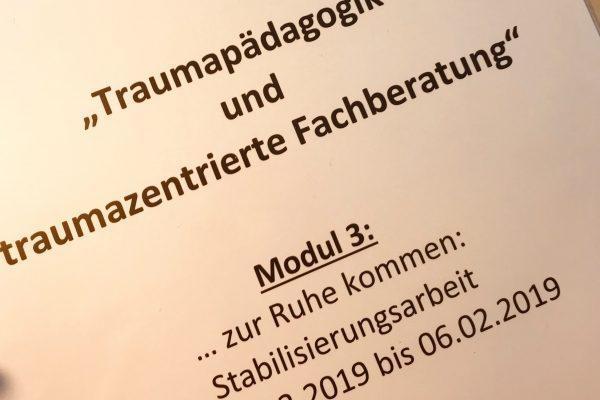 """Interne Weiterbildung """"Traumapädagogik und traumazentrierte Fachberatung"""" – Modul 3"""